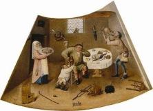 Ιερώνυμος Μπος - Λαιμαργία (Gula), σκηνή από τον πίνακα Τα Επτά Θανάσιμα Αμαρτήματα